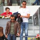 Footballer Cristiano Ronaldo attends the Men's Singles Quarter Final match between Rafael Nadal of Spain and Joao Sousa of Portugal during day seven of the Mutua Madrid Open at La Caja Magica on May 6, 2016 in Madrid, Spain
