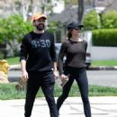 Elizabeth Olsen in Tights with boyfriend Robbie Arnett in Los Angeles - 454 x 556