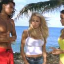 Jason Momoa, Pamela Anderson and Stacy Kamano in Twentieth Century Fox's Baywatch: Hawaiian Wedding - 2003