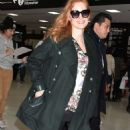 Jessica Chastain – Arriving at Narita International Airport in Narita