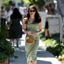 Emma Roberts – visits Kate Somerville on Melrose Place