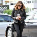 Ashley Benson lunching at La Conversation in LA (January 31)