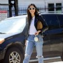 Jessica Gomes – Arriving at a friend's Memorial Day barbecue in LA - 454 x 609