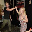 Alexander Ludwig and Katheryn Winnick – Vikings Battle Axe Training at San Diego Comic Con 2019