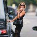 Abbey Clancy Out In North London