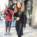Bella Thorne in Black Leather Outfit in New York City