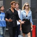 Gary Dourdan and an unidentified blonde woman are spotted walking around Manhattan's Soho neighborhood on September 2, 2016 - 425 x 600