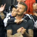 David Beckham And Sons Watch The LA Kings Win The Stanley Cup