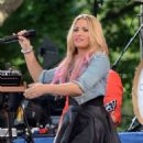 Demi Lovato performing on 'Good Morning America' (July 7)