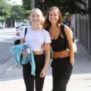 Maddie Ziegler and Alexis Ren – Leaving 'DWTS' at dance studio in LA