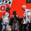 Tommy Lee attends the Monster Energy NASCAR Cup Series race at Auto Club Speedway at Auto Club Speedway on March 17, 2019 in Fontana, California - 401 x 600