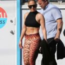 Jennifer Lopez – Arrives at the gym in preparation to her Super Bowl show in Miami