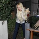 Lindsay Lohan leaving Samnatha Ronson's home in Los Angeles, CA, March 28, 2011