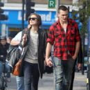 Keira Knightley & Rupert Friend Strolling Hand In Hand In East London - October 3, 2010 - 454 x 616