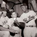 Mickey Mantle, Allie Reynolds, Dom DiMaggio & Satchel Paige