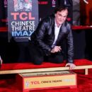 Quentin Tarantino is immortalized with a hand and footprint ceremony at TCL Chinese Theatre on January 5, 2016 in Hollywood, California