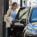 Emma Roberts in Black Skirt – Out in LA
