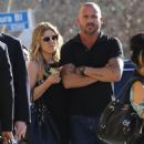 Actor Dominic Purcell cozies up to a mystery girl after enjoying lunch with her at Granville in Studio City, California on January 14, 2015 - 454 x 574