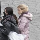 Jessica Chastain – on the set of The Good Nurse in New York