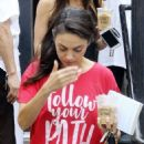 Mila Kunis – Heads out of Joan's on Third in Studio City - 454 x 681