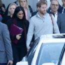 Meghan Markle and Prince Harry at Sydney International airport in Sydney