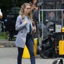 Melissa Benoist – Supergirl set in Vancouver