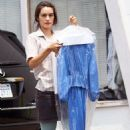 Shannyn Sossamon Picking Up Her Dry Cleaning In West Hollywood - June 25 2008