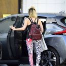 Margot Robbie in Leggings – Leaving the gym in Los Angeles