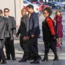 Denzel Washington arriving at Jimmy Kimmel Live in Hollywood CA, February 14, 2017 - 454 x 303