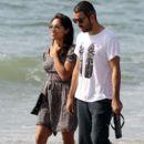 Rosario Dawson And Mathieu Schreyer In Santa Monica