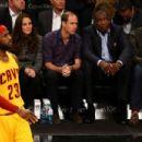 Duke & Duchess Of Cambridge British Royals Go to an NBA Game (December 8, 2014)
