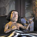Lord Farquaad (John Lithgow) dreams of his royal bride to be in Dreamworks' Shrek - 2001 - 400 x 241