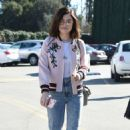 Lucy Hale in jeans shopping at Urban Outfitters in Los Angeles January 28, 2017 - 454 x 721