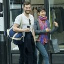 Amelia Warner and Jamie Dornan out in London (April 8, 2015)