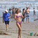 Ali Larter in Purple Bikini on Malibu Beach - 454 x 567