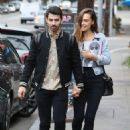 Joe Jonas and Blanda Eggenschwiler walk hand in hand after doing some book shopping at the Daily Planet Book Store in Los Feliz, California on November 20, 2013 - 454 x 629