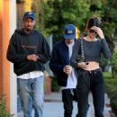 Kendall Jenner – Leaves Alfreds with friends in West Hollywood