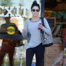 'Twilight' actress Nikki Reed and her singer husband Paul McDonald visit Trader Joes in Studio City on October 17, 2013