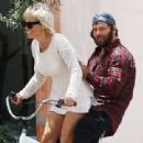 Pamela Anderson Malibu Bike Ride