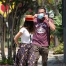Ana De Armas – Looks cute in summer dress with Ben Affleck at Nick Fouquet hat shop in Venice - 454 x 681