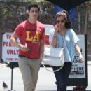 Selena Gomez and actor David Henrie out on a lunch date at Kabuki in Hollywood, California on June 8, 2013 - 454 x 634