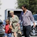 Michelle Williams and Jason Segel picking Matilda up from school in Los Angeles, CA (August 6)