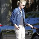 Portia de Rossi Out Walking Her Dogs In West Hollywood