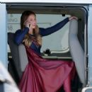 Melissa Benoist – On the Set of Supergirl in Los Angeles, August 2015