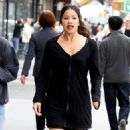 Gina Rodriguez – On the Set of 'Someone Great' in New York - 454 x 823