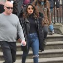 Priyanka Chopra and Marlee Matlin – On 'Quantico' Set in Dublin - 454 x 626