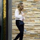 Elizabeth Olsen – After a Session at Shape House Urban Sweat Lodge in LA 11/14/2017