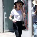 Amber Heard and Tasya Van Ree shopping in Hollywood