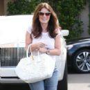 Lisa Vanderpump is seen leaving Epione Cosmetic Dermatology in Beverly Hills, California on May 1, 2015 - 454 x 565