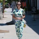 Crystal Reed Out and About in Beverly Hills on July 10
